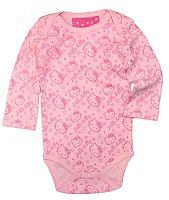 E plus M Dievčenské body Hello Kitty - ružové, 74 cm