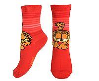 E plus M Dievčenské ponožky Garfield - červené, 31-34