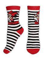 E plus M Dievčenské pruhované ponožky Minnie - čierno-biele