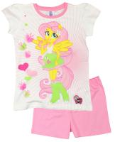 E plus M Dievčenské pyžamo Equestrii Girls - ružové, 122 cm