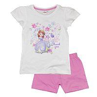 E plus M Dievčenské pyžamo Sofia - bielo-ružové, 92 cm