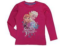 E plus M Dievčenské tričko Frozen - ružové, 122 cm