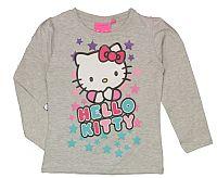 E plus M Dievčenské tričko Hello Kitty - sivé, 128 cm