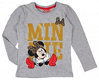 E plus M Dievčenské tričko Minnie - sivé, 110 cm