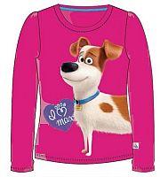 E plus M Dievčenské tričko Tajný život maznáčikov - ružové, 98 cm