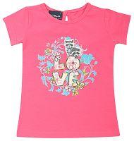 Escallante Dievčenské tričko s farebnou potlačou - ružové, 74 cm