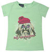 Escallante Dievčenské tričko so psíkom - zelené, 86 cm