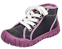 Fare Dievčenské členkové tenisky - fialovo- čierne, EUR 23