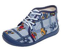 Fare Modré papučky na šnúrky, EUR 30