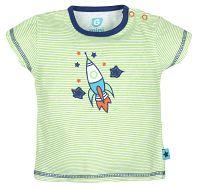 G-mini Chlapčenské pruhované tričko Raketa - zelené, 80 cm