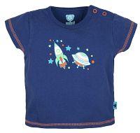 G-mini Chlapčenské tričko Raketa - modré, 86 cm