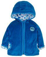 G-mini Chlapčenský velúrový kabátik Autíčka - modrý, 86 cm