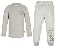 G-mini Detské pyžamo ŽIRAFA - sivé, 80 cm