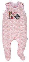G-mini Dievčenské dupačky Krtko a telefón - bielo-ružové, 68 cm