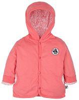 G-mini Dievčenský obojstranný kabátik Krtko a telefón - bielo-ružový, 74 cm
