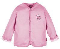G-mini Dievčenský obojstranný kabátik Macko - ružový, 62 cm