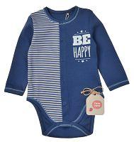 Garnamama Chlapčenské body Be happy - modré, 80 cm