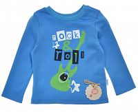 Garnamama Chlapčenské tričko Rock & Roll - modré, 86 cm