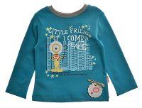 Garnamama Chlapčenské tričko s mestom - modré, 98 cm