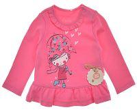Garnamama Dievčenská tunika s dievčatkom - ružová, 92 cm