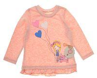 Garnamama Dievčenské tričko s dievčatkom - oranžové, 74 cm