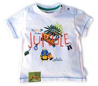 Gelati Chlapčenské tričko s motívom džungle - biele, 92 cm