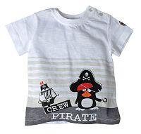 Gelati Chlapčenské tričko s tučniakom- biele, 68 cm
