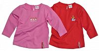 Gelati Dievčenská súprava 2 ks tričiek - ružovo-červené, 116 cm