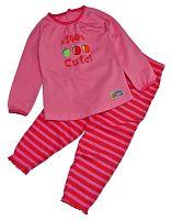 Gelati Dievčenské pyžamo Cute - ružovo-červené, 110 cm