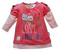 Gelati Dievčenské tričko Love my friends - červené, 92 cm