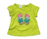 Gelati Dievčenské tričko - svetlo zelené, 86 cm