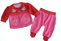Gelati Dievčenský dvojkomplet so srdiečkami - ružový, 68 cm