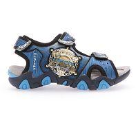 Geox Chlapčenské modré svietiace sandále JR Sandal Strike, EUR 26