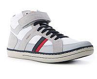 Geox Chlapčenské sivo -biele tenisky GARCIA, EUR 32