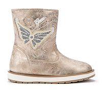 Geox Dievčenské zimné topánky s motýlikom - béžovo-zlaté, EUR 36