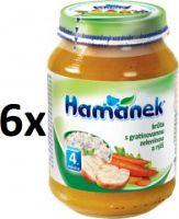 Hamánek Morka s gratinovanou zeleninou a ryžou 6x190g
