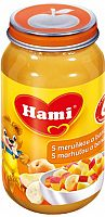 Hami s marhuľou a banánmi bez cukru 6x200g