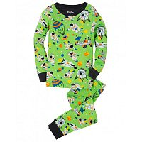 Hatley Chlapčenské pyžamo s astronautmi - zelené