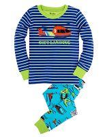 Hatley Chlapčenské pyžamo s helikoptérou - modré, 7 let