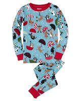 Hatley Chlapčenské pyžamo so psíkmi - modro-červené, 4 roky