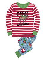 Hatley Chlapčenské pyžamo so sobom - farebné