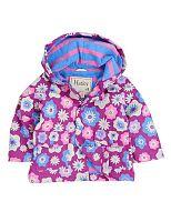 Hatley Dievčenská nepremokavá bunda Kvetinky- fialová, 80 cm