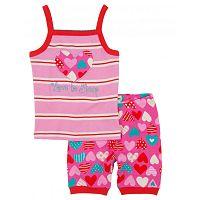 Hatley Dievčenské letné pyžamo so srdiečkami - ružové, 7 let