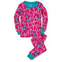 Hatley Dievčenské pyžamo s kotvami - ružové, 10 let