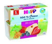 HiPP BIO Jablká s jahodami 4x100g