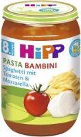 HiPP BIO Paradajky so špagetami a mozzarellou- PASTA BAMBINI - bezmäsitý 6x220g