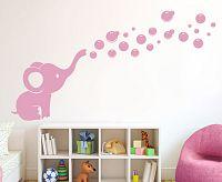 Housedecor Samolepka na stenu Sloníča a bublinky