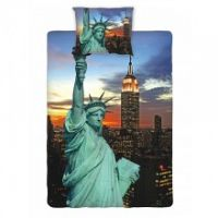 Jerry Fabrics Detské obliečky fototlač New York night, 140x200 cm / 70x90 cm