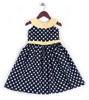 Joe and Ella Fashion Dievčenské šaty Dolly bodkované - čierno-žlté, 128 cm