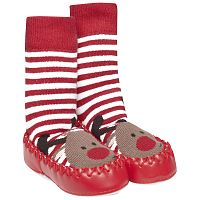 JoJo Maman Bébé Detské ponožky s podrážkou - sob, 0-6 měsíců